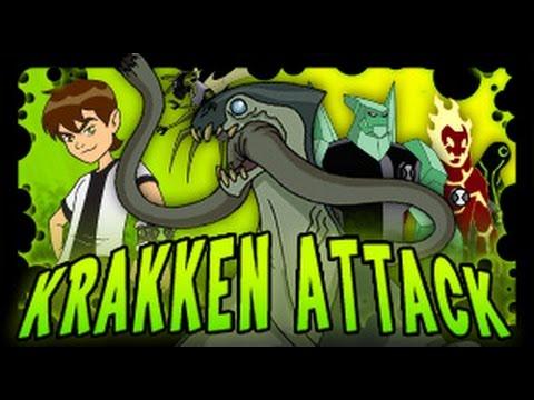Ben 10 Kraken attack Omniverse episode GAME Ben 10 cartoon inspired GAMES