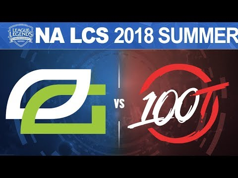 OPT vs 100 - NA LCS 2018 Summer Split W9D2 - OpTic Gaming vs 100 Thieves