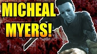 """COD Ghosts """"MICHAEL MYERS"""" GAMEPLAY - 11 Kill Streak (Call of Duty: Ghosts DLC Map Pack 1 Onslaught)"""