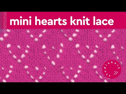 How to Knit Mini LACE HEART Pattern