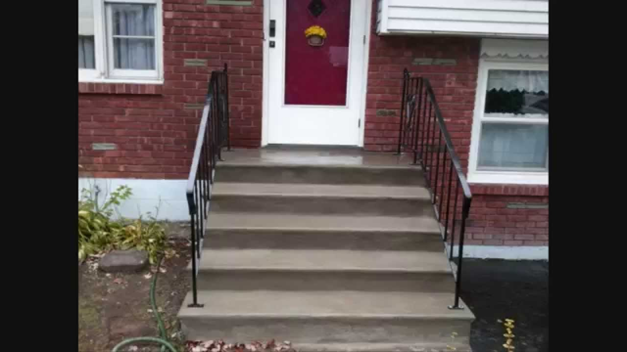 Quick Concrete Stair Makeover For Stairs With Minor Wear