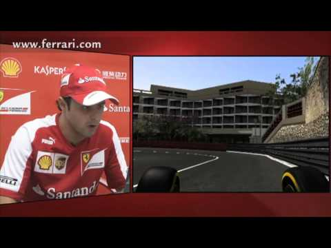 F1 2013 - Ferrari - A virtual lap of Monaco with Felipe Massa