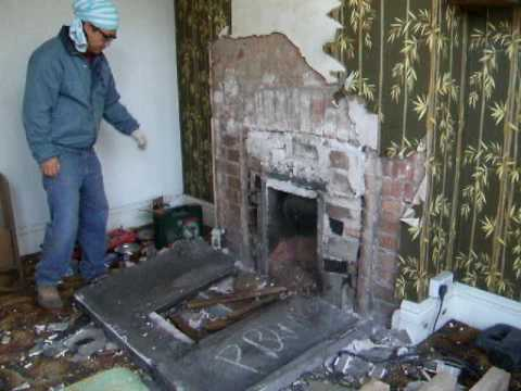 removing old fireplace 1 youtube removing old fireplace to new modern fire removing old fireplace surround