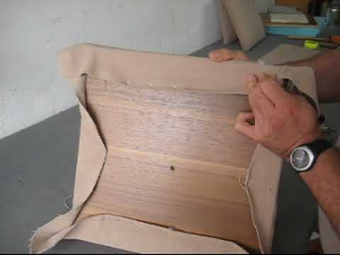 Tapiceria de asiento de silla clases youtube - Como se elabora una silla de madera ...