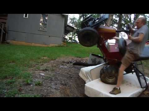 Off Road Yazoo Mower - MATTRESS CLIMB FAIL 8-29-13