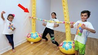 Kids Inflatable Limbo Challenge! family fun vlog video