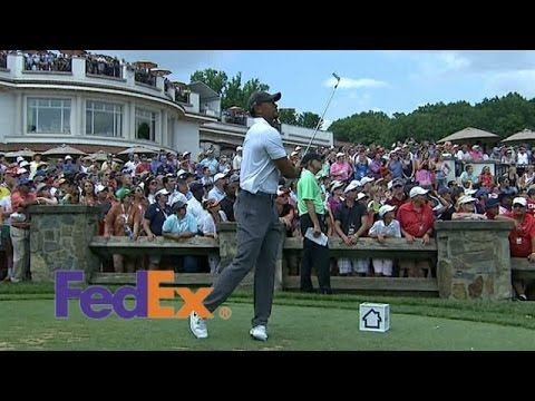 Tiger Woods heats up with birdie on No. 10 at Quicken Loans