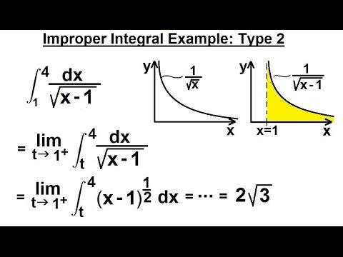 Calculus 2: Improper Integrals (6 of 16) Type 2 Example