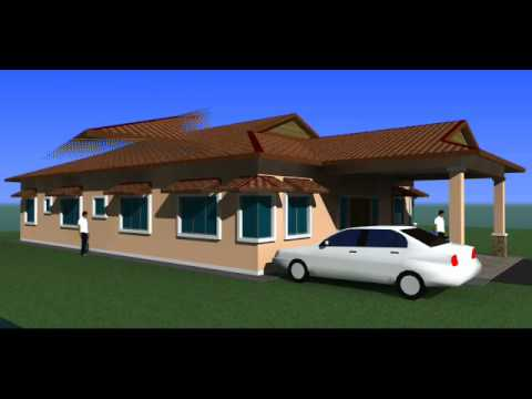 Pelan Rumah E004 E1pelan Rumah Banglo Setingkat 4 Bilik 2 /page/304