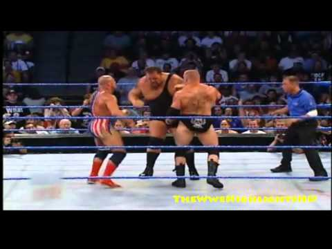Kurt Angle Vs Brock Lesnar Vs The Big Show - WWE Vengeance 2003