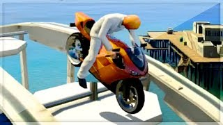 GTA 5 Funny Moments - Insane Roller Coaster Stunts - (GTA V Online Games Stunts)