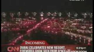 Dubai Fireworks Seen From The Space