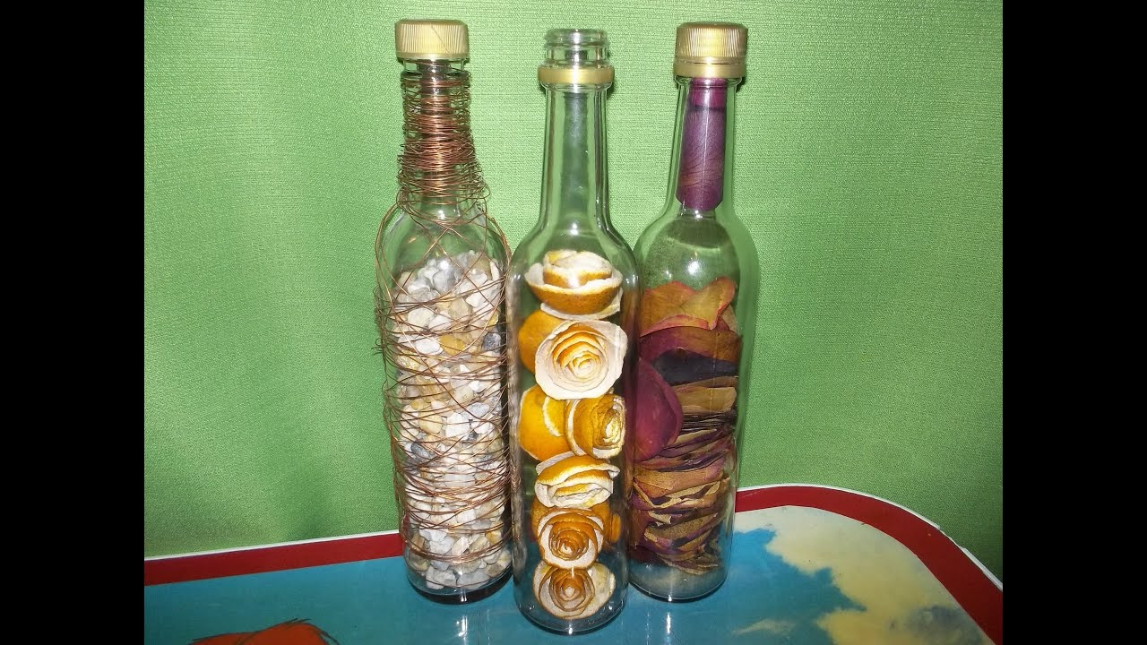 Botellas rellenas como cortar una botella de vidrio - Manualidades con botellas de cristal ...