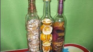 Botellas rellenas. Como cortar una botella de vidrio