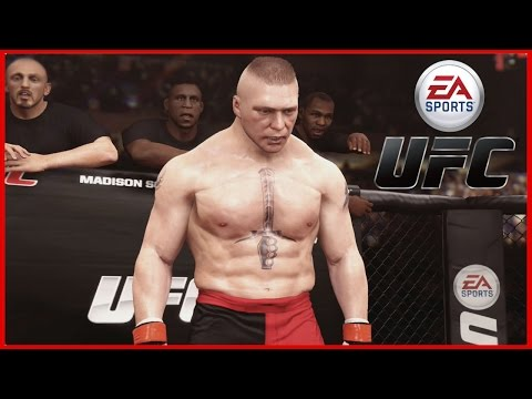 EA Sports UFC: Brock Lesnar w/ Full Introduction and Full fight!
