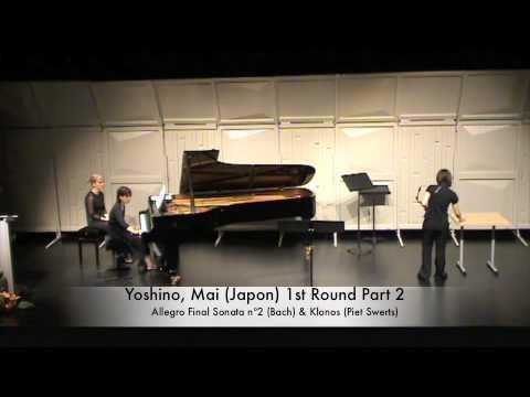 Yoshino, Mai (Japon) 1st Round Part 2
