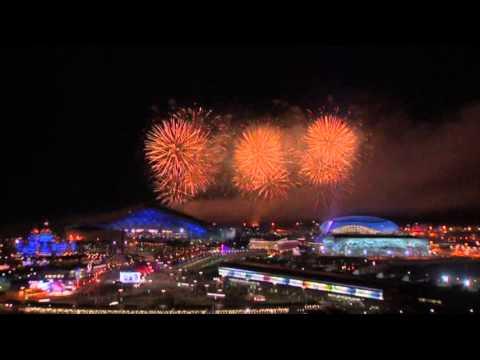 Raw: Fireworks at Olympics Closing Ceremony