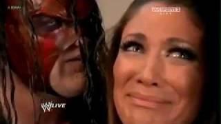WWE RAW 2/6/12 Kane Scares Eve Torres