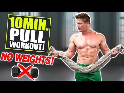 """10 MIN. """"PULL"""" WORKOUT! BACK, BICEPS & ABS (BODYWEIGHT ONLY!)"""