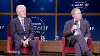 Clinton, Bush Reflect on Life After Leaving Office