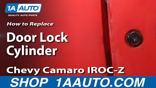 How To Install Replace Door Key Lock Cylinder 82-92 Chevy
