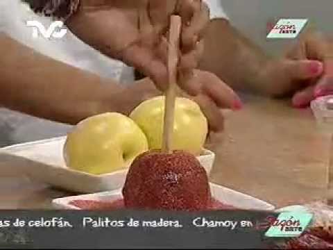 Receta para preparar Manzanas Cubiertas