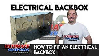 Sinking an electrical backbox