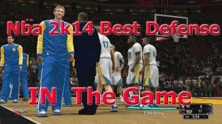 Nba 2k14| BEST DEFENSIVE SETTINGS CHEESE MAN TO MAN| Full