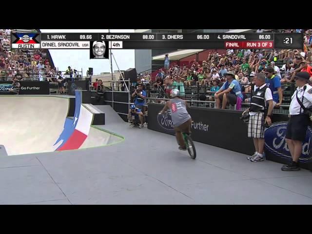 Daniel Sandoval Wins BMX Park Bronze