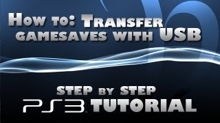 How To Use Flashdrive For PS3 Game Saves!