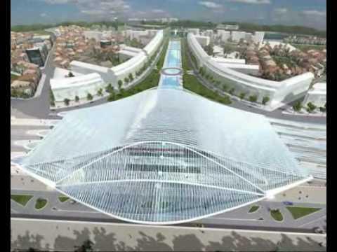 Projekt stacji metra w Liege - Santiago Calatrava