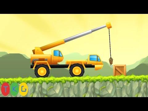 Xe cần cẩu, Xe xúc đất, Máy ủi đất, Xe nâng hàng 2 | CONSTRUCTION CREW [1-15] WORLD 2 THE MOUNTAINS