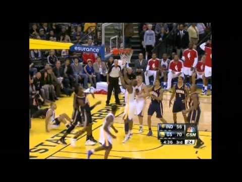 Warriors vs Pacers | Curry + Team Highlights (12-1-2012)