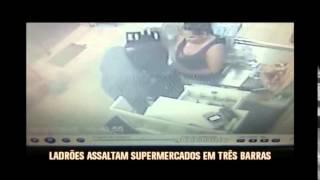 Ladr�es assaltam dois supermercados em Tr�s Barras