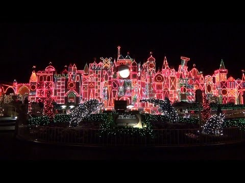 It's a Small World Holiday - Full POV Ride and Exterior - in Fantasyland, Disneyland Christmas