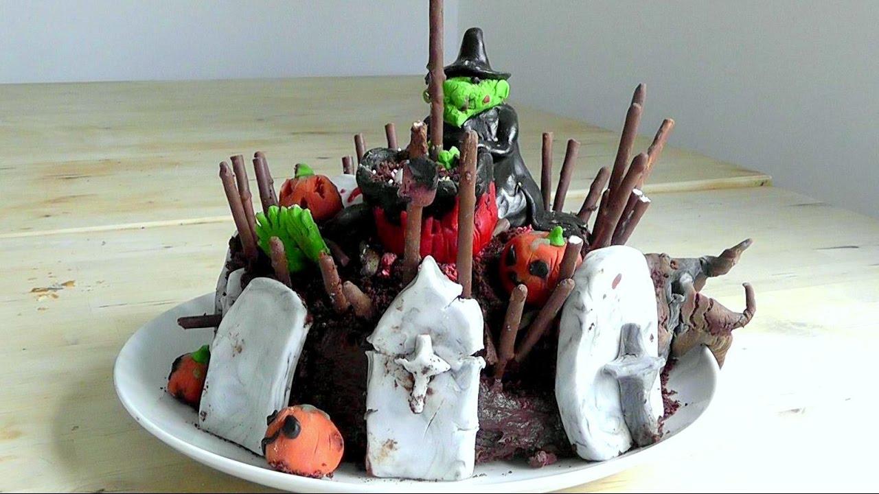 Halloween Cake How to make cakes & Decorations recipe ...