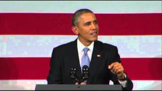 Abebe Gelaw delivers a message to President Obama