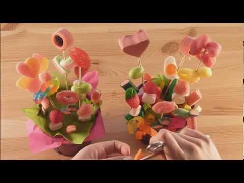 Maceta con flores de chuches youtube - Macetas de chuches ...
