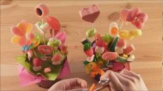 Macetas con flores de chuches