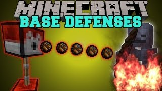 Minecraft: BASE DEFENSES (MOB DESTROYING TURRETS!) Turrets