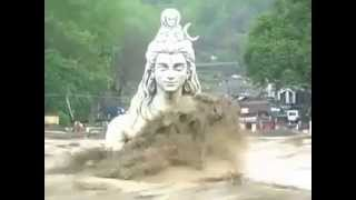 Statue of Lord Shiva in Rishikesh Flood in UttarakhandUttarakhand Shiva Statue Now
