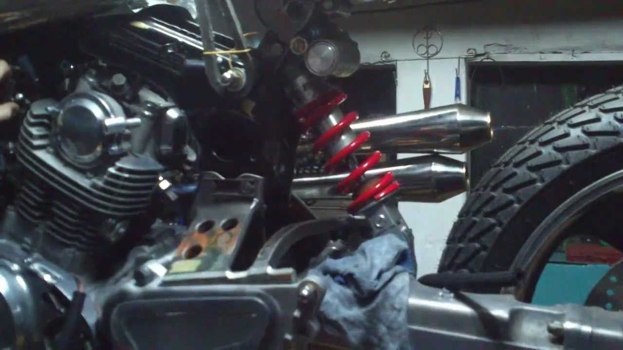 Yamaha Virago Cafe Bobber Sound Test Youtube