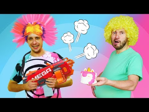 Gaming with Nerf Guns: Junk Food vs Sports - Try Not to Laugh Funny Videos