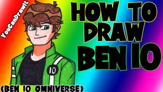 How To Draw Ben Tennyson From Ben 10 Omniverse