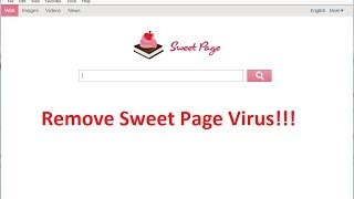 Remove Sweet Page Redirect Virus