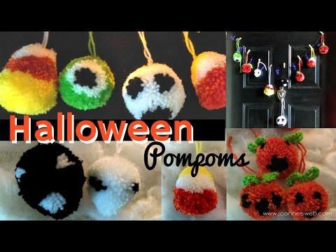 Halloween Pompoms