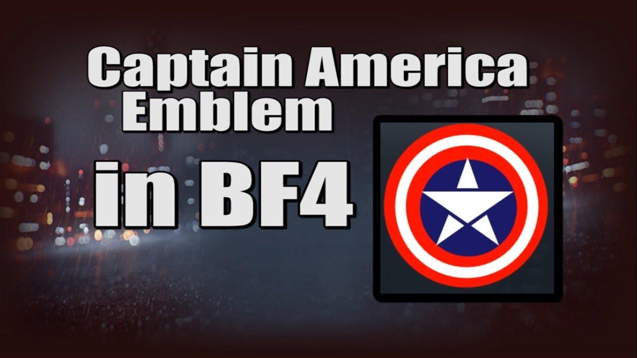 captain america emblem in bf4 battlefield 4 emblem creator youtube