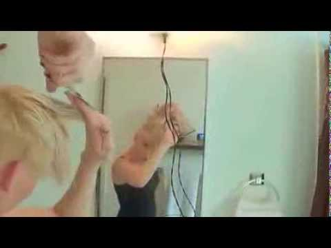 Woman Shaving!  Create your own under cut like Miley