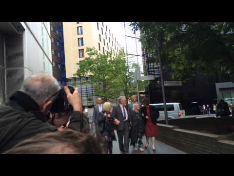 Rolf Harris arrives for start of his sex assault trial - 9.5.14