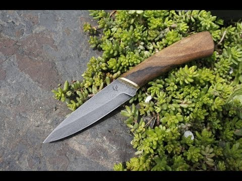 Making Hunting Damascus Steel Knife